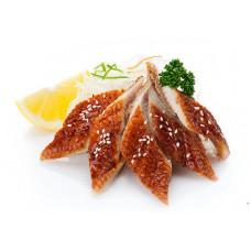 Угорь жареный филе в соусе унаги