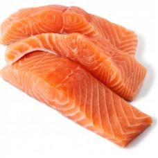 """Сёмга филе с/с """"ПРЕМИУМ""""  из охлажденной рыбы сухого посола  (жир срезан с брюшка) 500гр."""